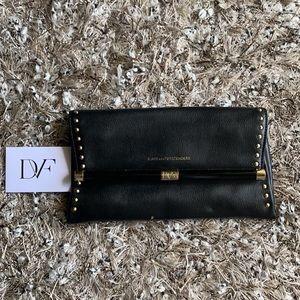 DVF Diane von furstenberg studded clutch